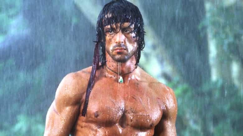 Sylvester Stallone som John Rambo.