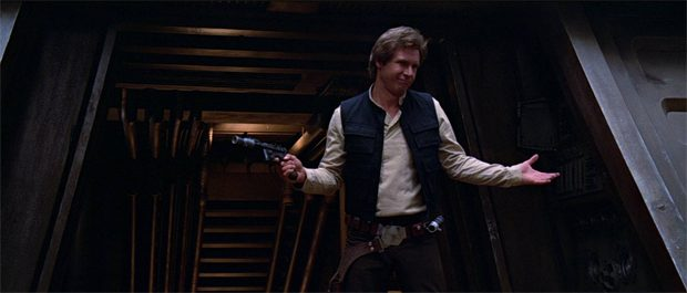 Bild på Harrison Ford som Han Solo.