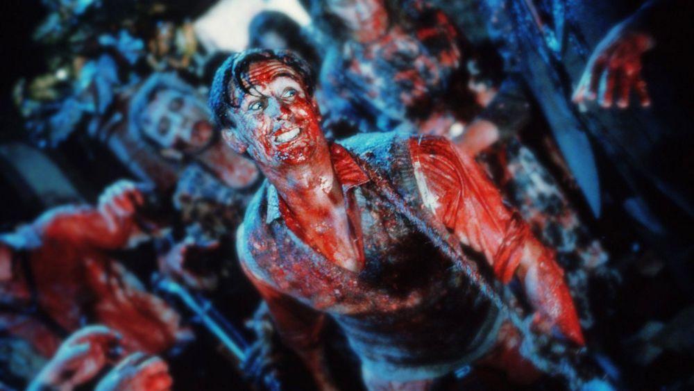 Huvudrollen i Peter Jacksons Braindead är täckt i blod.
