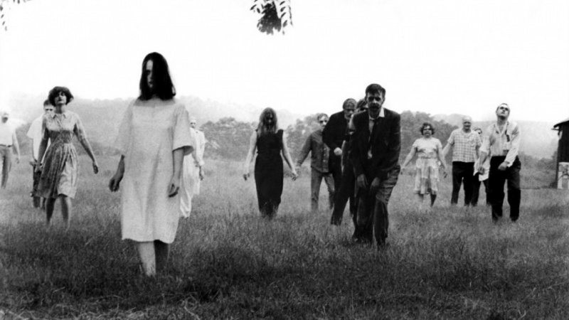 Bild från George A. Romeros skräckklassiker Night of the Living Dead. Filmen etablerade zombien som skräckmonster på allvar.