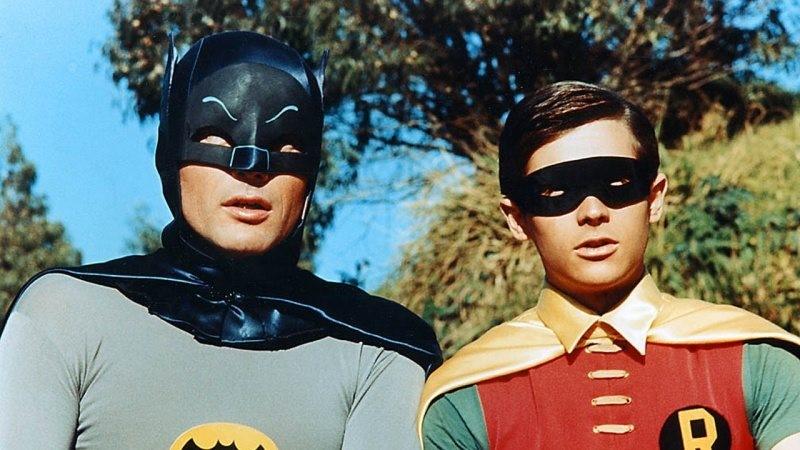 Bild på Adam West och Burt Ward i The Batman.