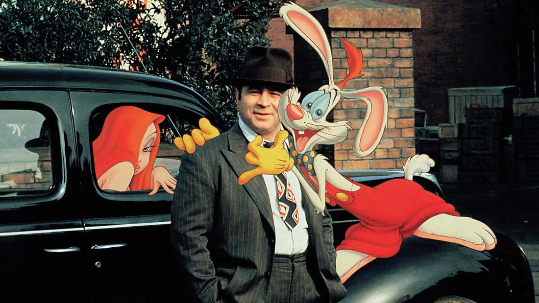 """Jessica Rabbit, Eddie Valiant och Roger Rabbit i """"Vem satte dit Roger Rabbit?"""""""