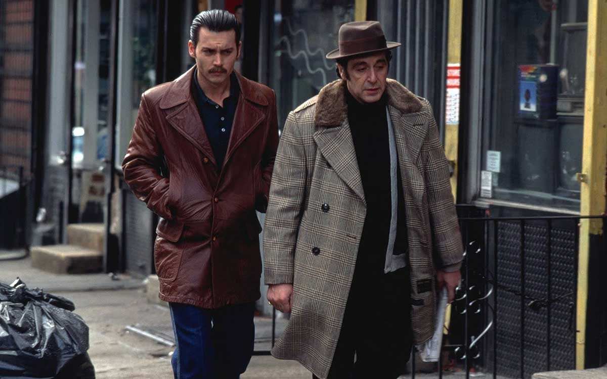 Johnny Depp och Al Pacino i Donnie Brasco