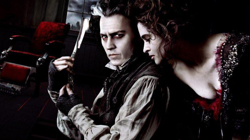 """Johnny Depp och Helena Bonham Carter i """"Sweeney Todd"""""""