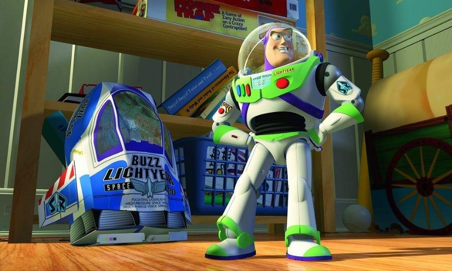 Bild på Buzz Lightyear från Toy Story.