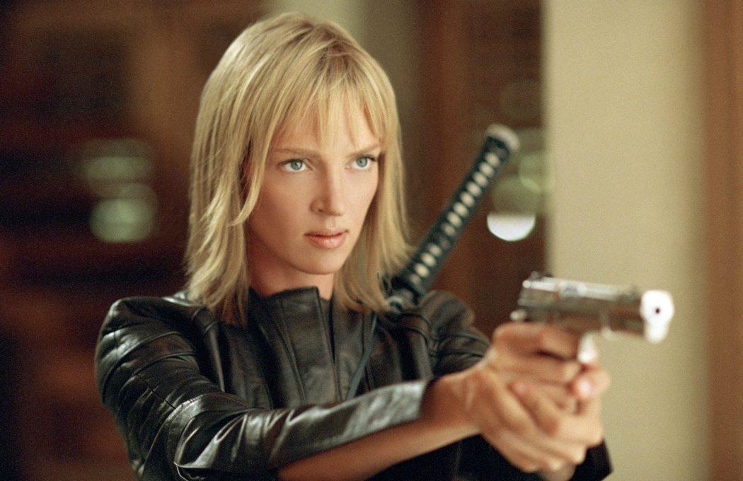 """Uma Thurman bär en pistol i """"Kill Bill: vol. 2"""""""