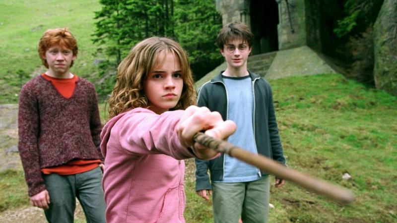 """Ron, Hermione och Harry Potter i """"Harry Potter och fången från Azkaban"""""""