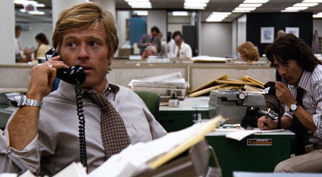 Robert Redford och Dustin Hoffman i All the Presidents Men