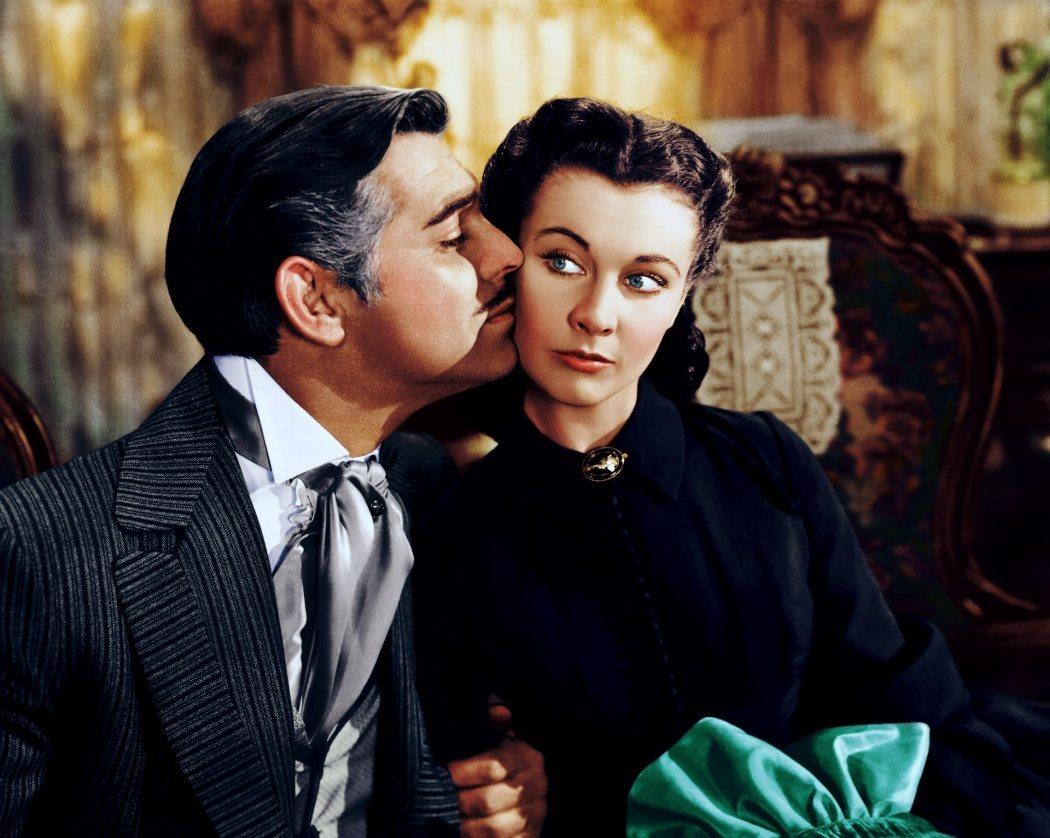 Clarg Gable of Vivien Leigh i 1939 års storfilm Borta med Vinden