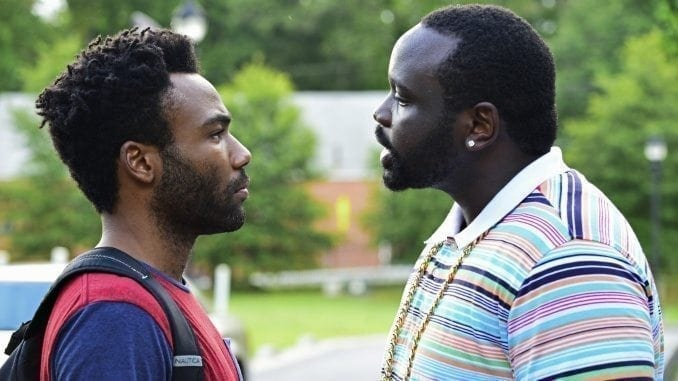 Donald Glover som Earnest Marks och Brian Tyree Henry som Alfred Miles i Atlanta. Foto: Guy D'Alema/FX.