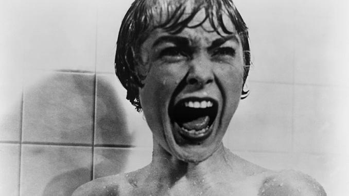 """Bild på Janet Leigh i Hitchcocks skräckfilm """"Psycho""""."""