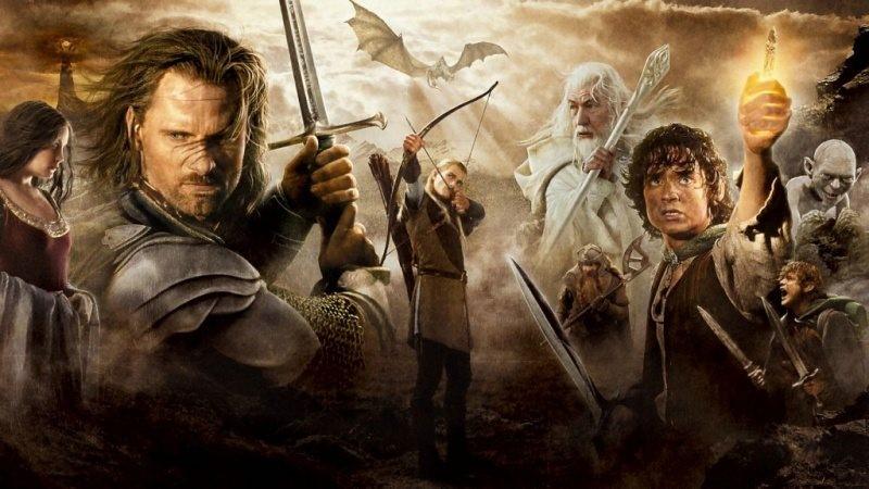 """Poster till Sagan om konungens återkomst (2003). Den tredje delen i filmserien om """"Sagan om Ringen"""""""