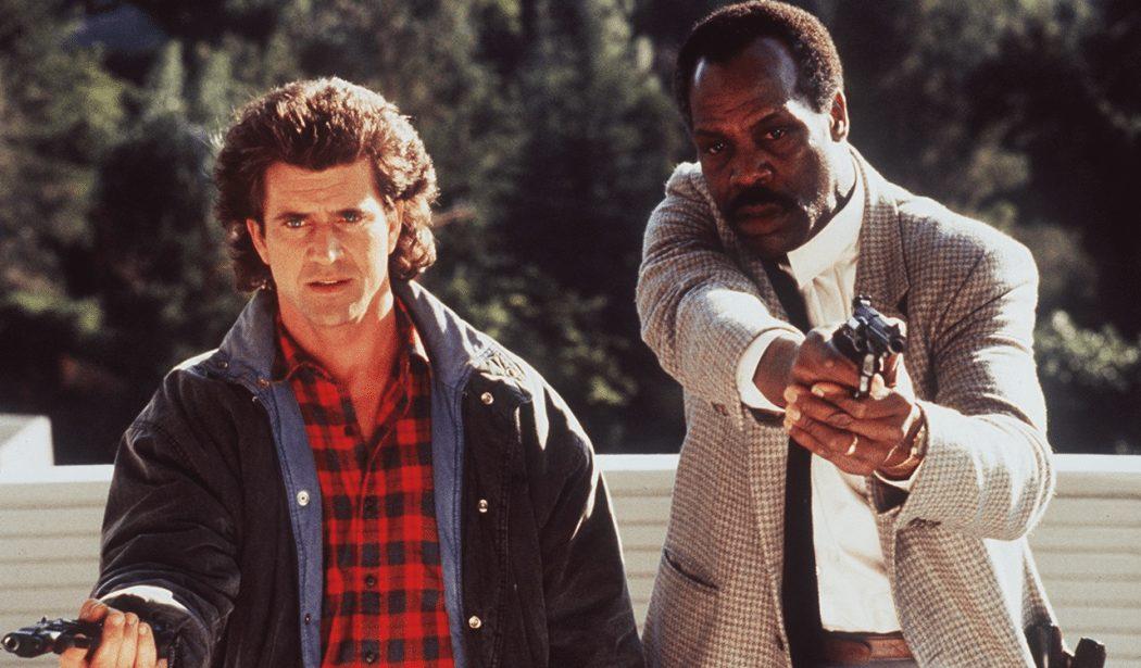 Bild på Mel Gibson och Danny Glover från Dödligt vapen.