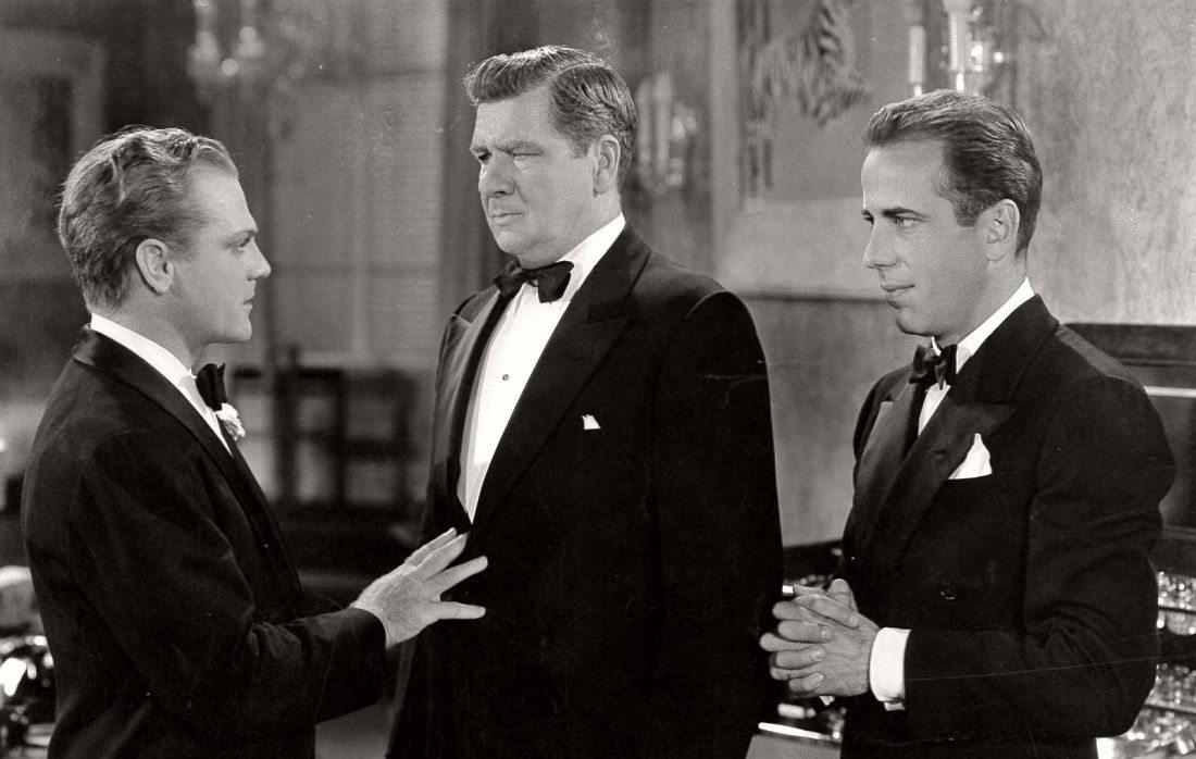 James Cagney och Humphrey Bogart i Panik i gangstervärlden (1938)