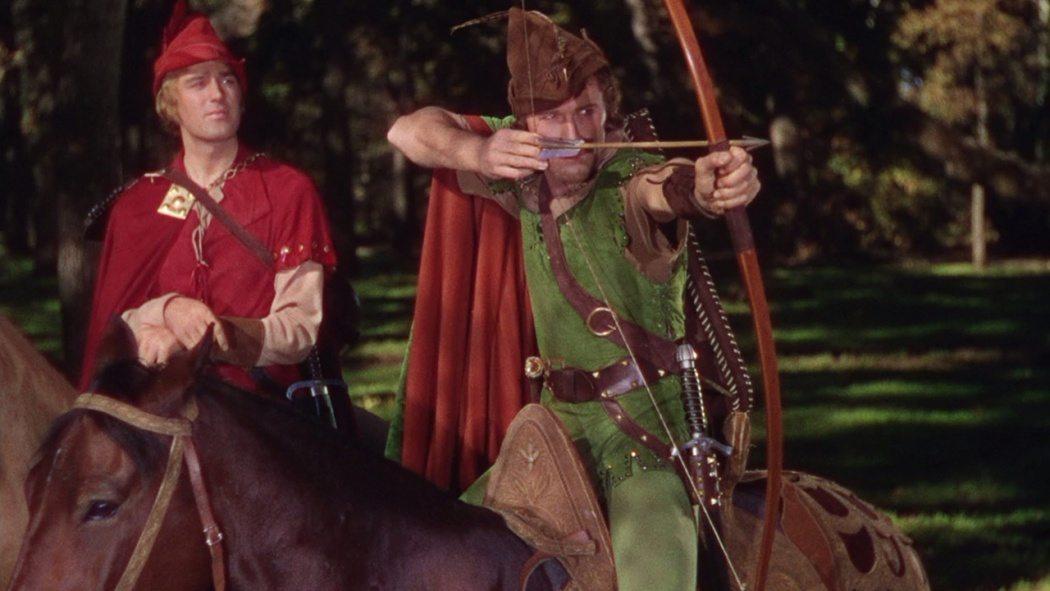 Errol Flynn som Robin Hood i Robin Hoods äventyr från 1938