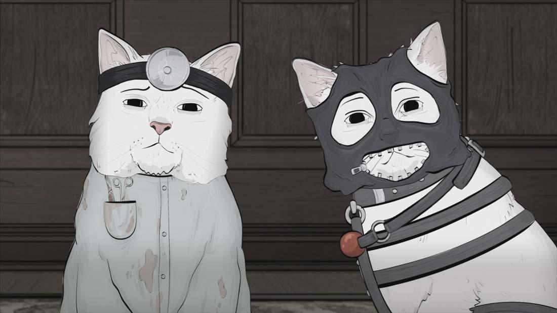 """Två katter i serien """"Animals"""""""
