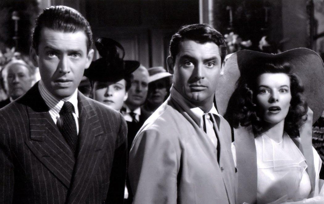 James Stewart, Cary Grant och Katherine Hepburn i The Philadelphia Story (1940)