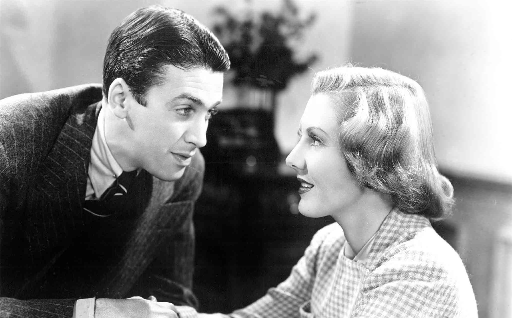 James Stewart och Jean Arthur i Komedin om oss människor (1938)