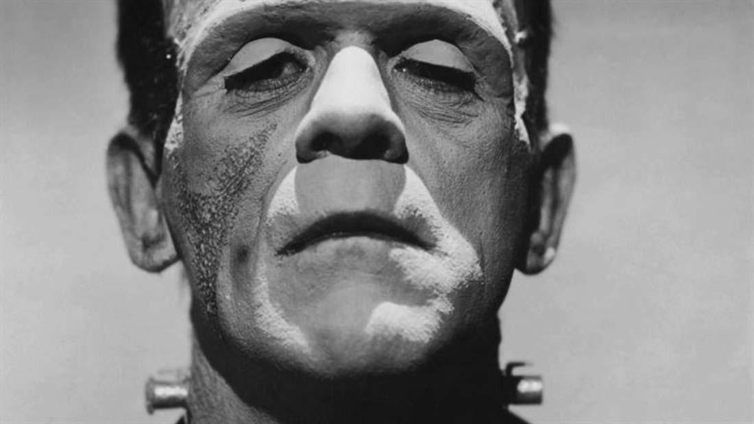 """Boris Karloff i """"Frankenstein"""", ett av filmvärldens mest kända skräckmonster."""