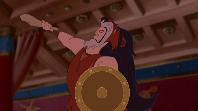 Disneyfilmen Hercules använder Scar från Lejonkungen som matta.
