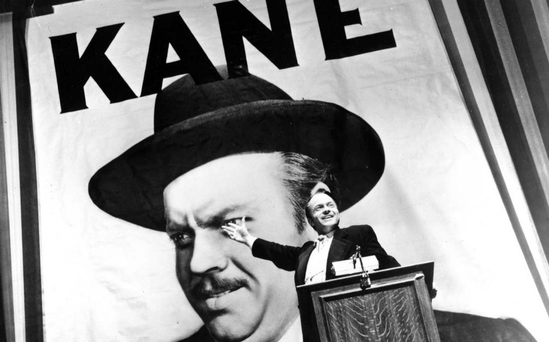 Orson Welles som Charles Foster Kane i mästerverket Citizen Kane.