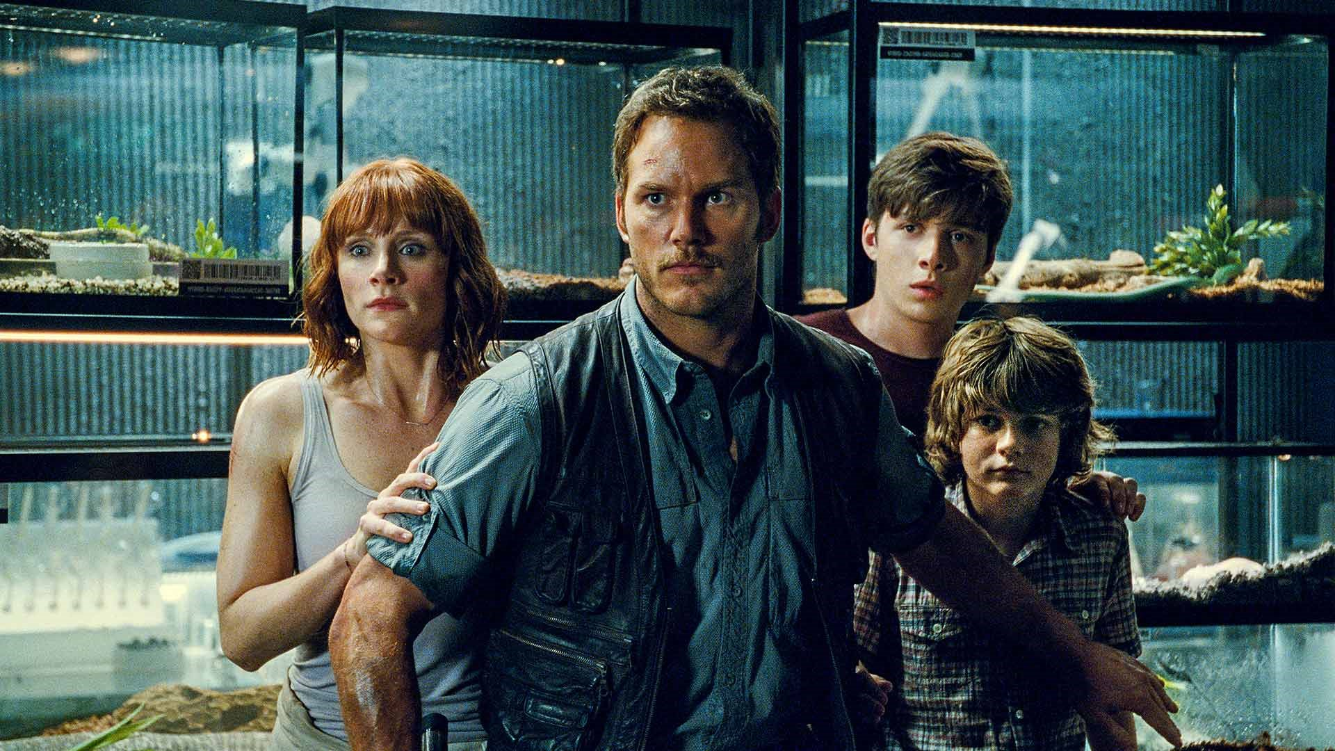 Chris Pratt med kompani i Jurassic World