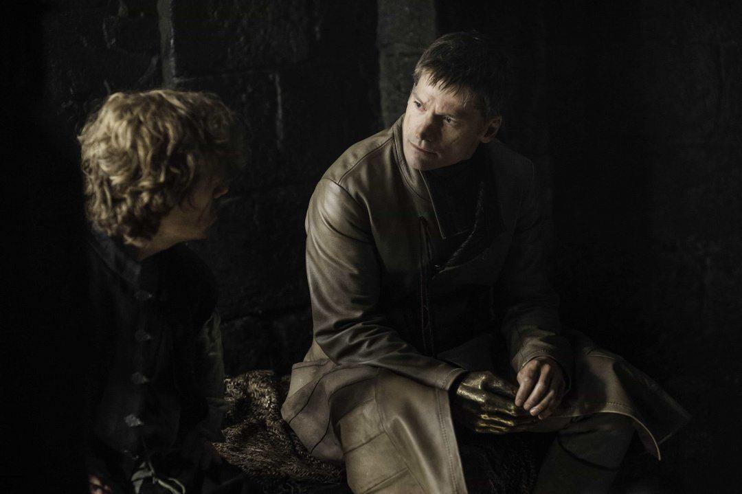 Peter Dinklage och Nikolaj Coster-Waldau i Game of Thrones
