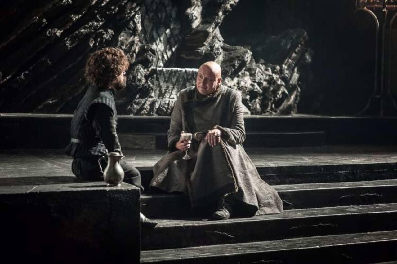 Peter Dinklage och Conleth Hill i Game of Thrones