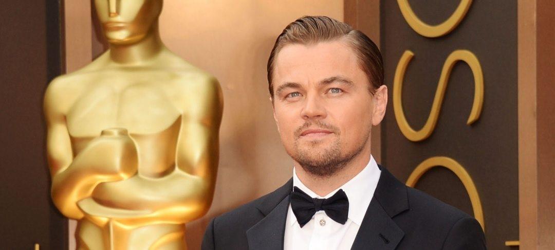 Leonardo DiCaprio på Oscarsgalan.