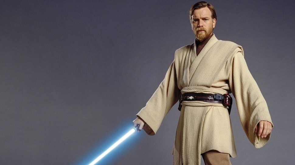 Obi Wan med sin blåa ljussabel
