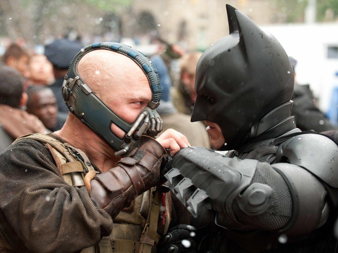 Tom Hardy och Christian Bale i The Dark Knight Rises.