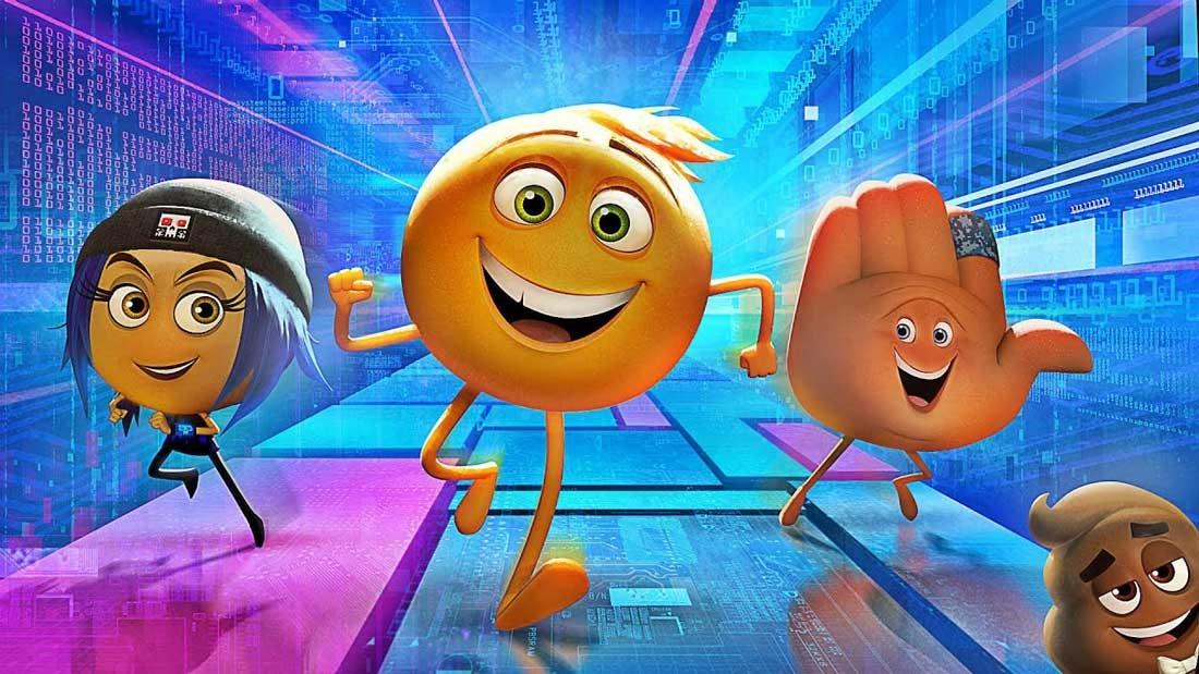 """Tre emojis springer i """"The Emoji Movie"""""""