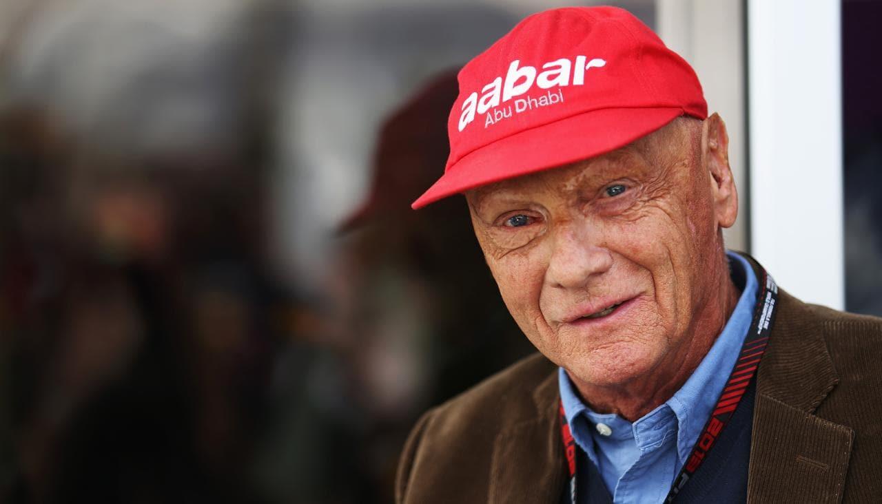 Bild på Niki Lauda, racinglegend.