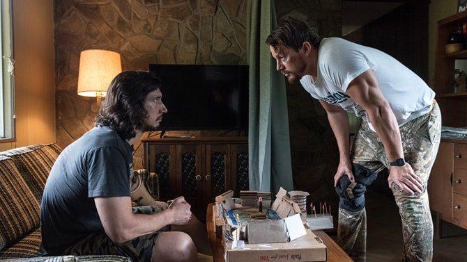 Adam Driver och Channing Tatum i Logan Lucky (2017).