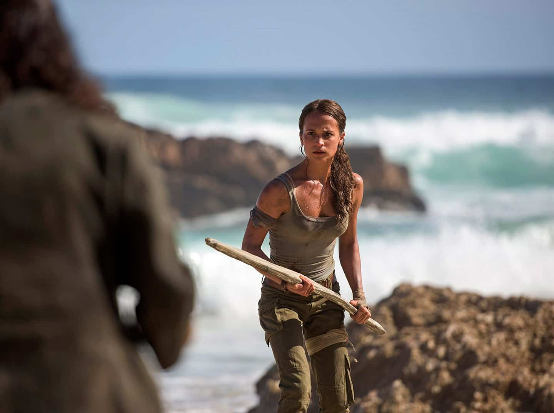 """Bild på Alicia Vikander i kommande filmen """"Tomb Raider"""" - bästa filmtipsen 2018"""