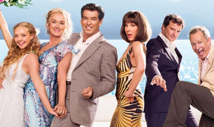 Bild på ensemblen från Mamma Mia