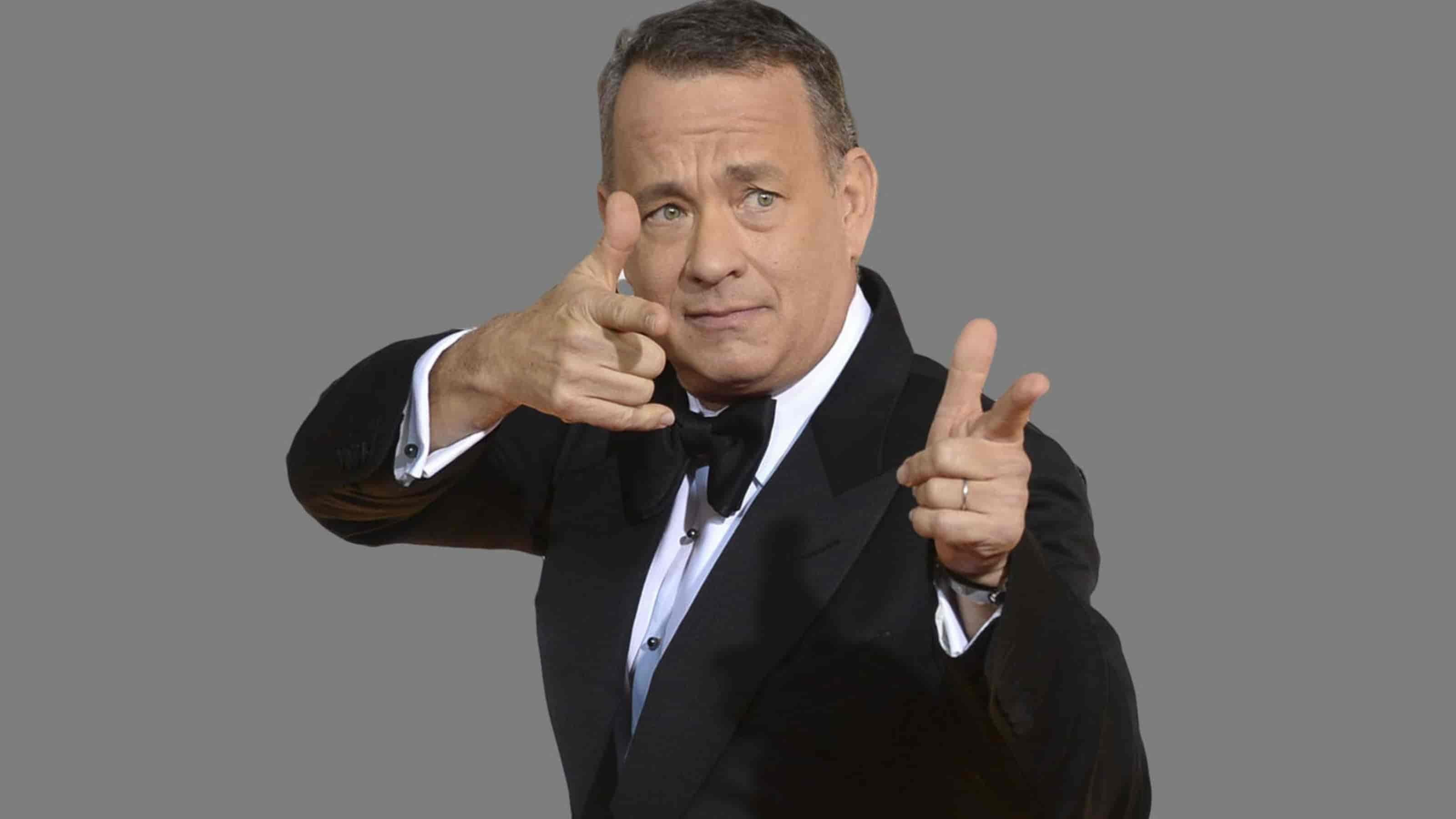 Tom Hanks visar upp sina pek-skills