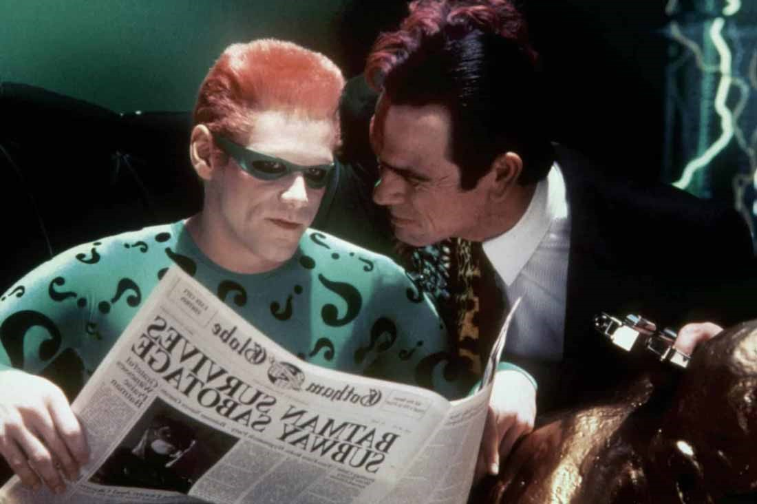 Jim Carrey Tommy Lee Jones i Batman Forever