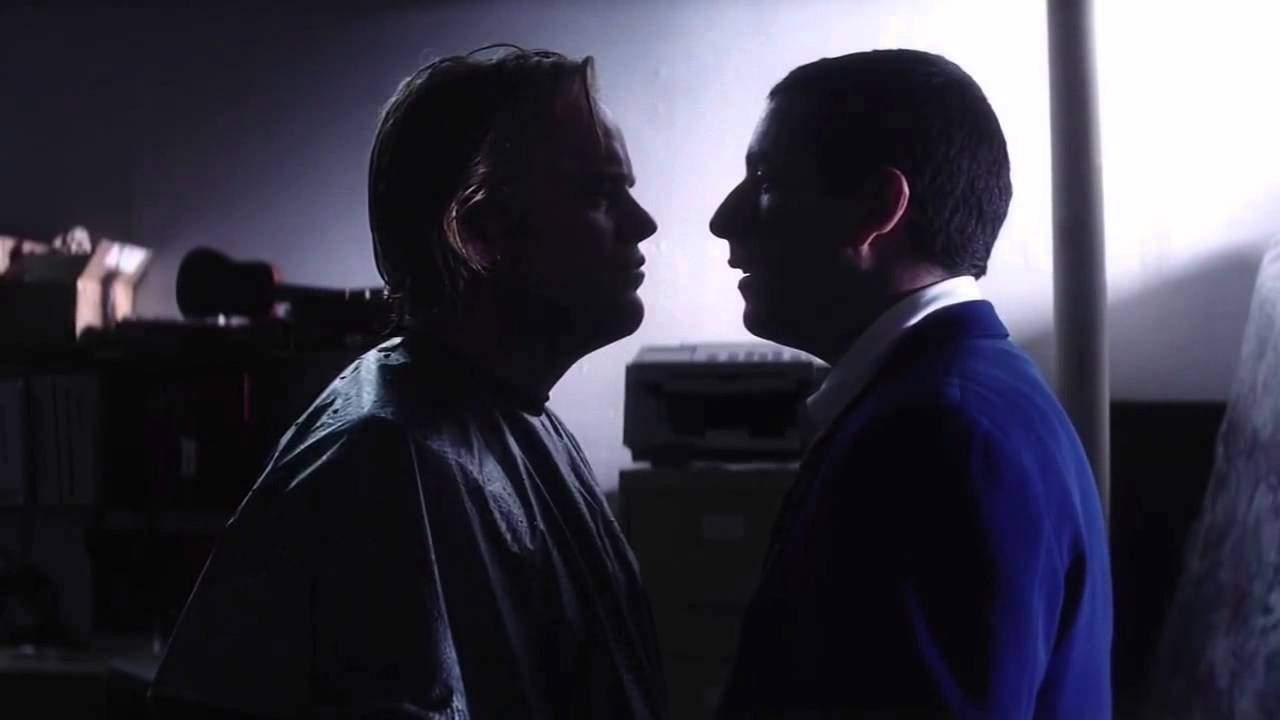 Adam Sandler och Philip Seymor Hoffman i Punch-Drunk Love