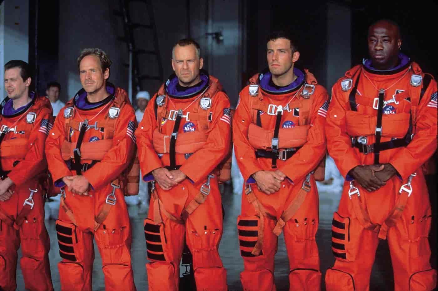 Skådespelarna i Armageddon - en riktigt bra katastroffilm
