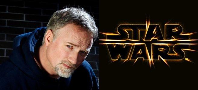 David Fincher bredvid Star Wars-loggan