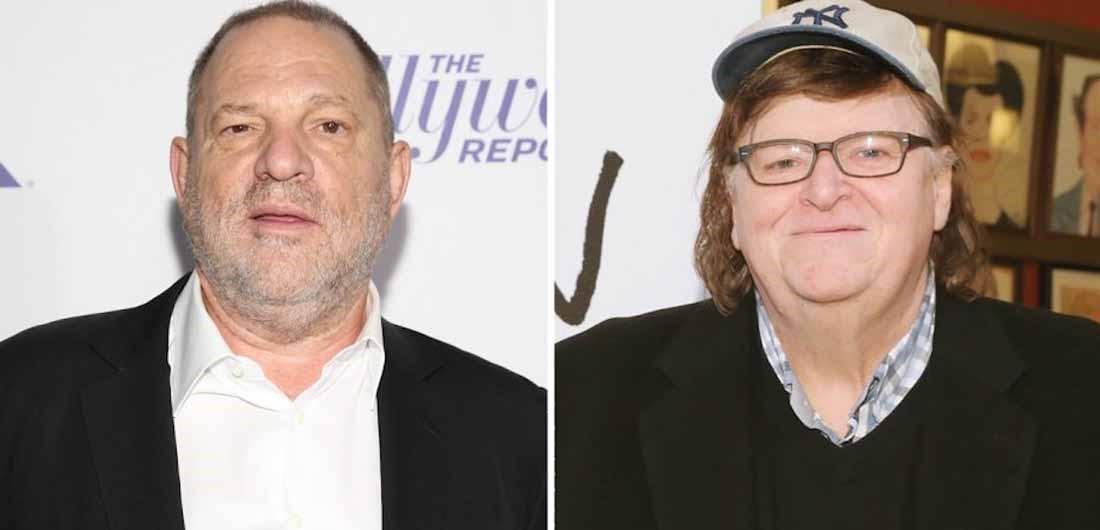 Harvey Weinstein och Michael Moore