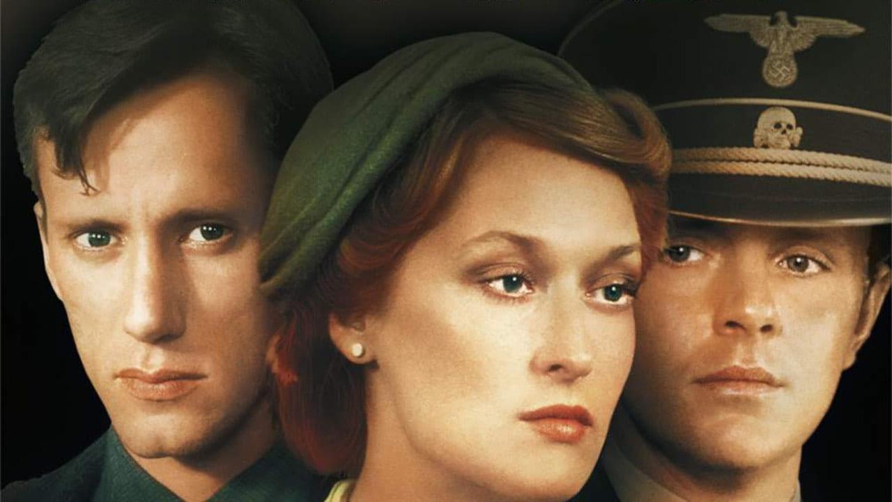 Från tv-serien Förintelsen. En omslagsbild från serien med tre ansikten.