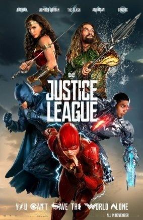 """Poster till den superhjältefilmen """"Justice League"""""""