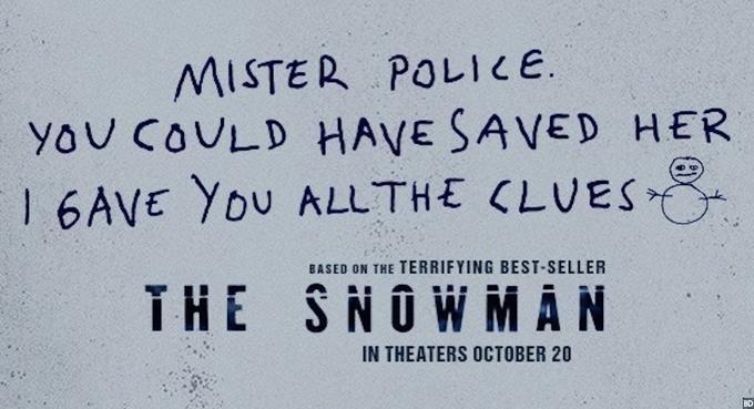 Poster till filmen the snowman