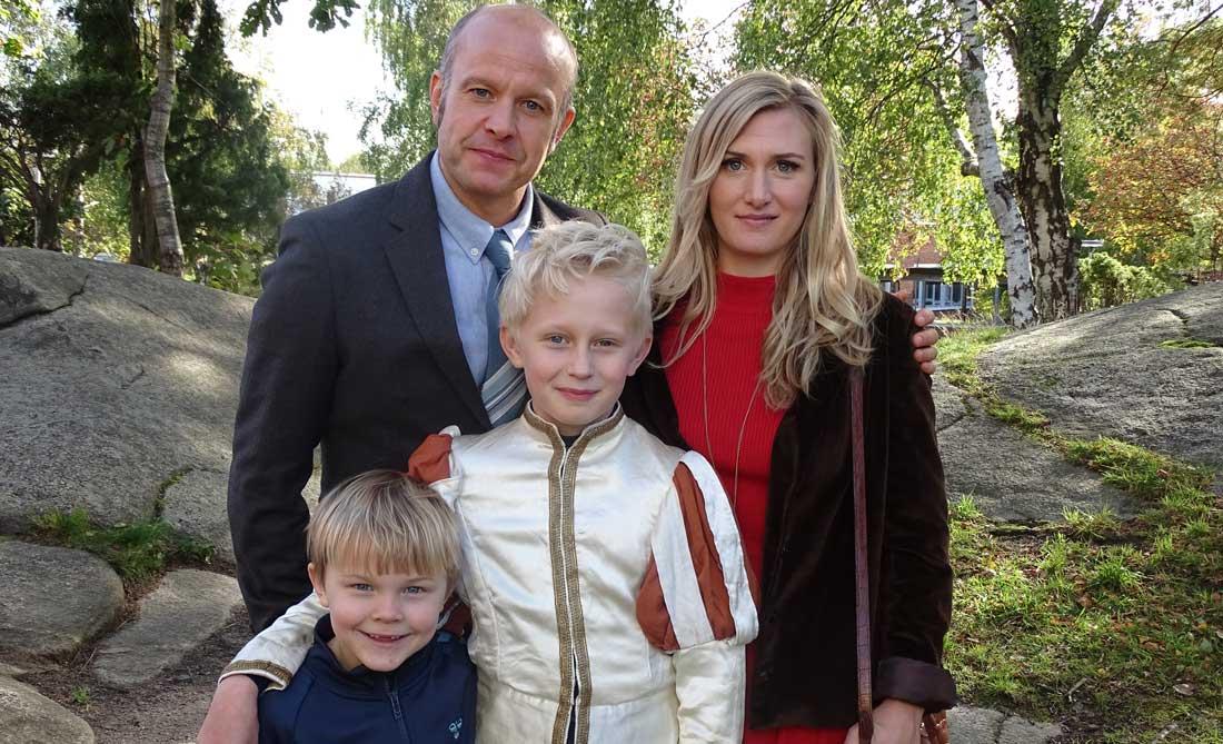 Skådespelarna i den nya Sune-familjen.