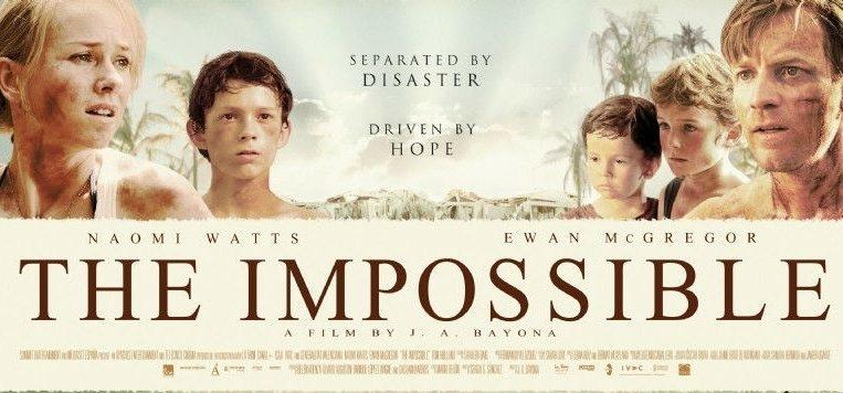 Cover till filmen The Impossible, ett bra filmtips!