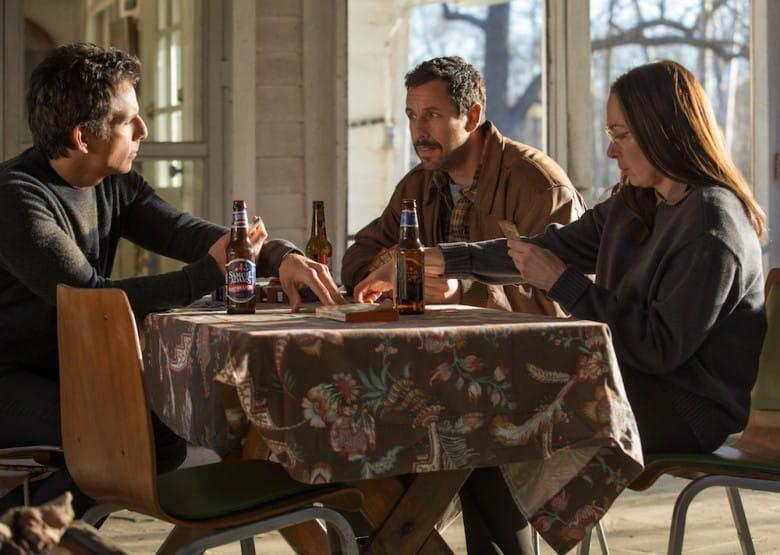 """Ben Stiller, Adam Sandler och Elizabeth Marvel i """"The Meyerowitz Stories"""""""