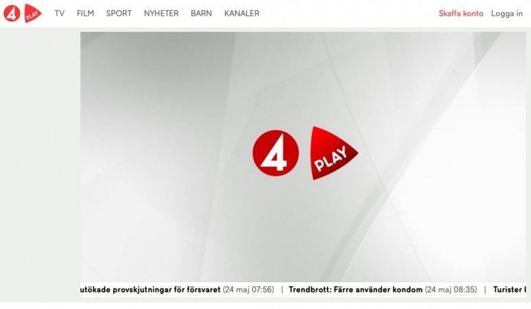 Streama mängder av serier och filmer på Tv4Play.