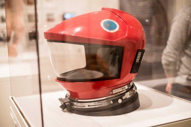 """Originalhjälm som användes i """"År 2001 – ett rymdäventyr""""."""